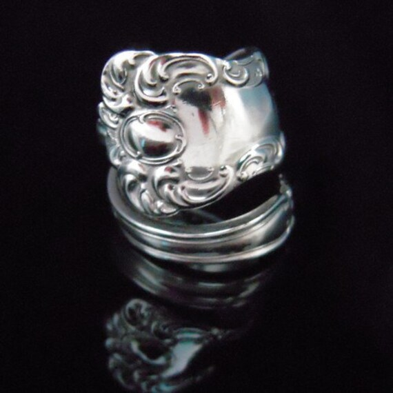Recycled Spoon Ring - Oxford - Antique Spoon Jewelry
