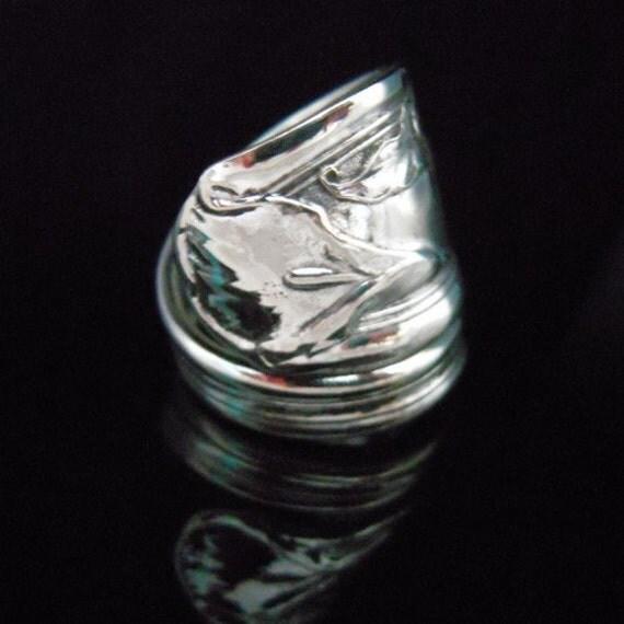 Silver Spoon Ring - Calla Lily