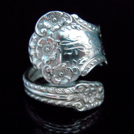 Sterling Silver Spoon Ring Floral - Silverware Jewelry