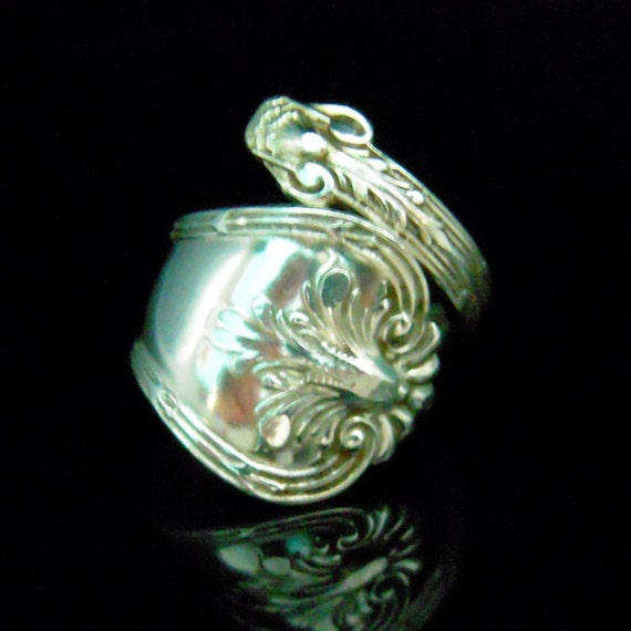 sterling silver spoon ring antique silverware jewelry