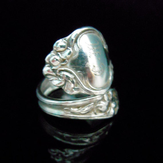 Sterling Silver Spoon Ring - Silverware Jewelry - Violet by Wallace