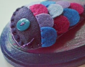 Tiny Mounted Fish - Purple & Magenta