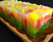 Fruit Salad glycerin soap slice vegan LAST ONE