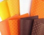 8 Colors Felt Set - Candy Corn Mix - 20cm x 20cm per sheet