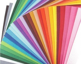 Felt Fabric - 30 Colors Collection - 20cm x 20cm per sheet