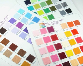 Plain Felt Color Chart