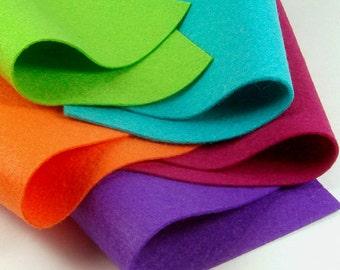 5 Colors Felt Set - Halloween Party - 20cm x 20cm per sheet