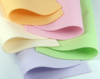 5 Colors Felt Set - Surprise - 20cm x 20cm per sheet