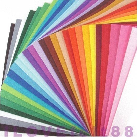 Felt Fabric - 30 Colors Collection - 20cm x 20cm per sheet