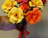 Special Order For Paper Roses On a stem 12    In Any Color any Quantity   Toss Bouquets  Rehearsal