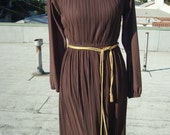 GRECIAN GODDESS brown dress
