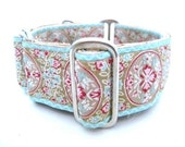 "Houndstown 1.5"" Coral Medallion Martingale Collar"