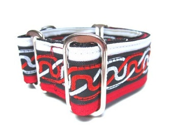 """Houndstown 1.5"""" Red Celtic Braid VELVET Lined Martingale Collar Size Small, Medium, or Large"""