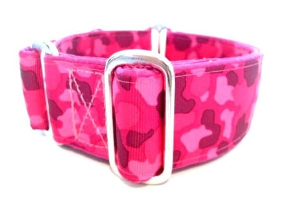 "Houndstown 1.5"" Pink Camo Martingale Collar"