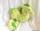 Nessie sea monster - green micro plush