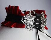 Gothic necklace victorian vampire neck corset