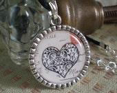 Heart Silver Pendant Charm
