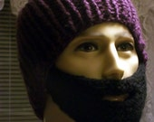 Bearded Beanie Purple or Color of Your Choice