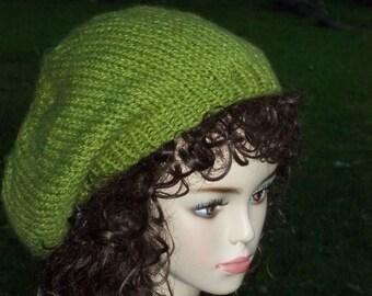 Knit Slouch Hat Pattern PDF