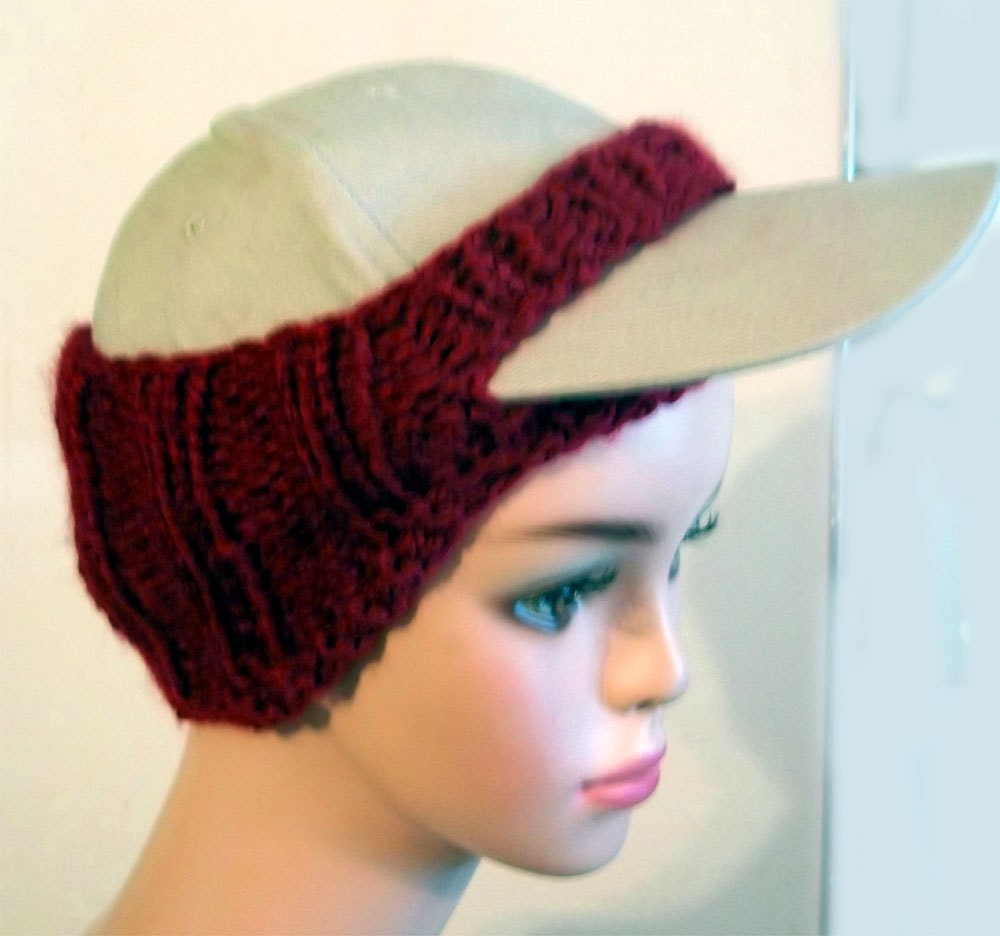 Baseball Cap Cover Pattern Knit PDF File by KnittingOleBag on Etsy