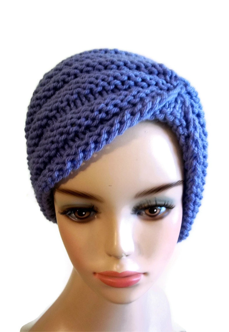 Crochet Pattern Turban Hat : Knitting Pattern Turban Hat by KnittingOleBag on Etsy