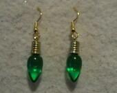 Dangle Earrings - GREEN CHRISTMAS LIGHTS