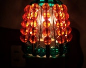 Beaded Night Light Shade - PUMPKIN