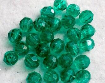 Green Acrylic Beads, Destash Beads, Beading Supplies, Destash Supplies, Jewelry Supplies, Craft Supplies, 6mm - 250 ct