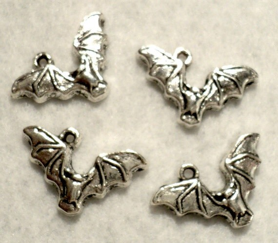 Bat Charms - Set of 4 - RESERVED FOR SHELLEY
