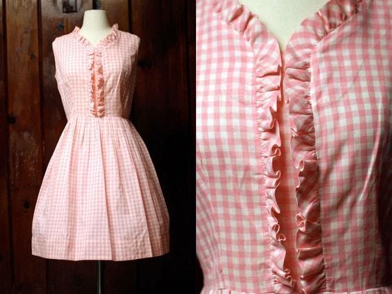 Vintage 1950s Strawberry Shortcake Dress M/L
