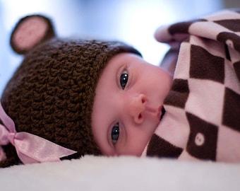 Hat Newborn Photography Newborn Girl Hat Baby Picture Props for Newborn Baby Photo Prop Hat Crochet Infant Hat Baby Bear Hat Newborn Beanie