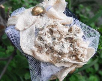 Denim, golden, beige CUFF Unique-Vintage materials-