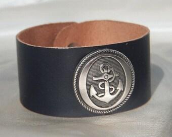 Sale---Was 12usd NOW only 8usd--- Marino MARINE --leather cuff BRACELET--