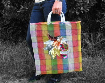 Colorful Mexican Azteca Net Bag