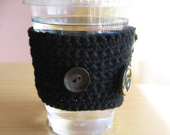 Starbucks coffee cup COZY - Cotton - Plain BLACK -