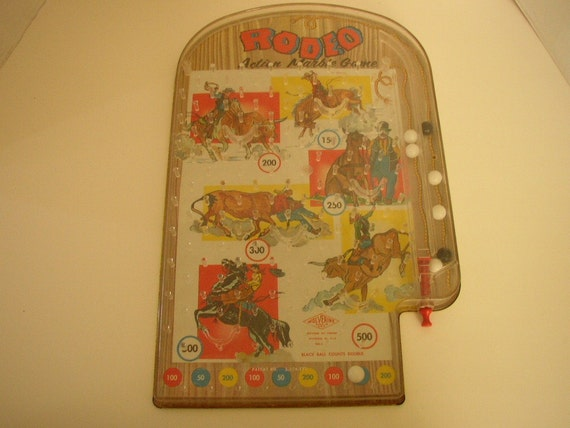 Items Similar To Wolverine Pinball Game Rodeo Vintage Toy
