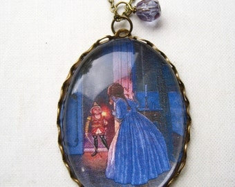 The Nutcracker and the Mouse King Necklace (magnifying pendant. art book illustration. fairytale jewelry. antique whimsical jewellery)