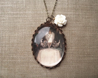 The White Cat Necklace