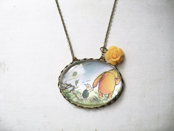 items similar to winnie the pooh and piglet necklace on etsy