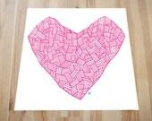 Basket Heart (Pink)