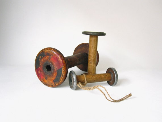 Large Wooden Spool Collection