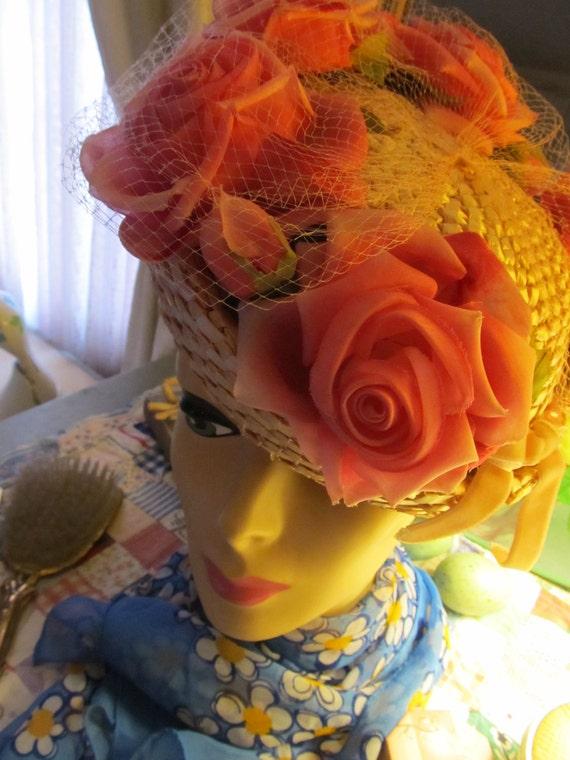 RESERVED-Vintage Spring Easter Designer Hat
