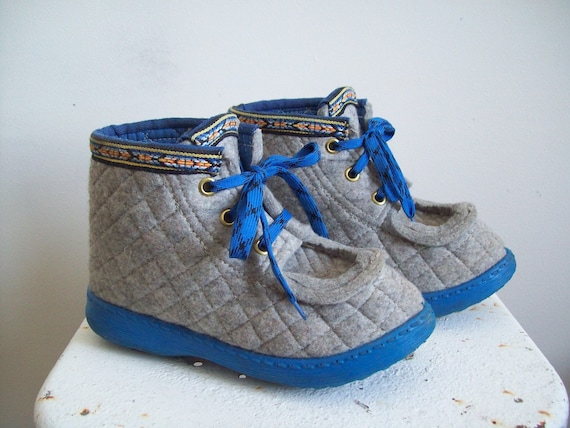 Vintage Nye Nesna Lobben Norwegian Wool Felted Boots Handmade