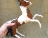 Needle felted horse, custom poseable sculpture just for you