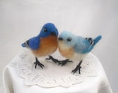 Custom wedding cake topper, needle felted birds, made just for you