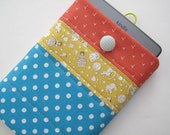 Red yellow blue patchwork quilted kindle touch,  Kindle Voyage, Kindle Paperwhite and kindle. case