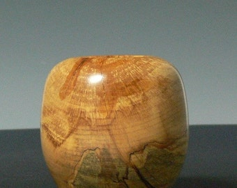 Hand Turned Spalted Maple Hollow Form