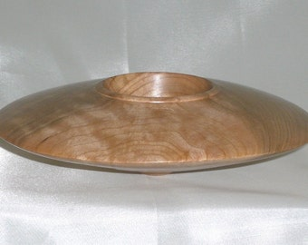 """Hand Turned Maple """"Flying Saucer II"""" Bowl"""