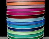 50 Percent OFF - 100 yards 3/8 grosgrain ribbons, 20 colors