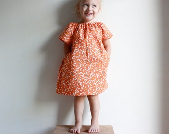 pockets are best dress / pdf sewing pattern 12 months to 5 years